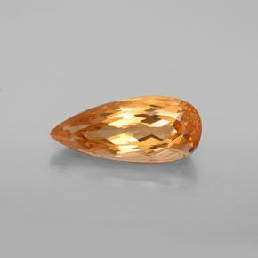 Tiger Orange Topacio Imperial Gema - 5.6ct Corte en forma de pera (ID: 346661)