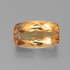 6.3ct Cushion-Cut Golden Orange Imperial Topaz Gem (ID: 384489)