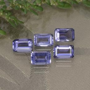 Violet Blue Iolite Gem - 0.5ct Octagon Step Cut (ID: 279569)