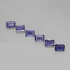 2.7 ct total Natural Violet Blue Iolite