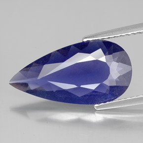 Buy 3.37 ct Violet Blue Iolite 17.75 mm x 9.2 mm from GemSelect (Product ID: 324884)