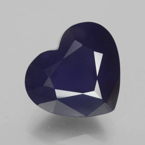 7.41 ct Heart Facet Violet Blue Iolite Gemstone 13.45 mm x 12 mm (Product ID: 325525)