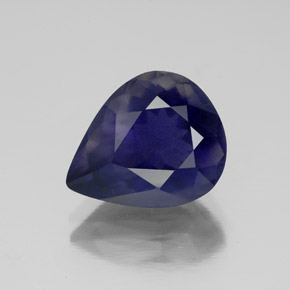 3.8ct Pear Facet Violet Blue Iolite Gem (ID: 340480)