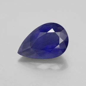 3.09 ct Pear Facet Violet Blue Iolite Gemstone 12.67 mm x 8.4 mm (Product ID: 345073)
