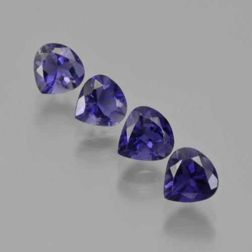 Violet Blue Iolite Gem - 0.4ct Pear Facet (ID: 408772)