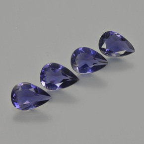 Violet Blue Iolite Gem - 0.5ct Pear Facet (ID: 408896)