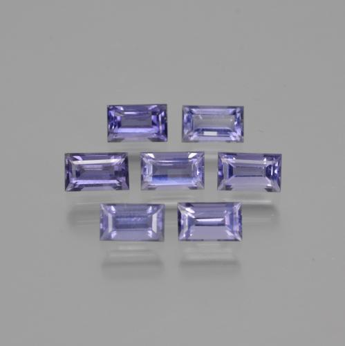 Violet Blue Iolite Gem - 0.3ct Baguette Facet (ID: 412251)