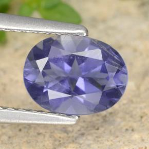 0.9ct Oval Facet Blue Violet Iolite Gem (ID: 472782)