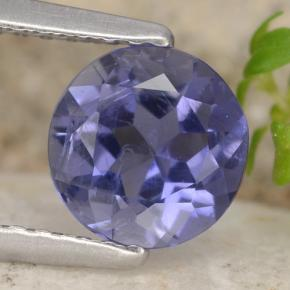 Violet Blue Iolite Gem - 0.8ct Round Facet (ID: 474757)