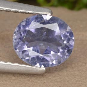 0.8ct Oval Facet Violet Blue Iolite Gem (ID: 476152)