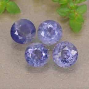 Violet Blue Iolite Gem - 0.4ct Round Facet (ID: 476306)