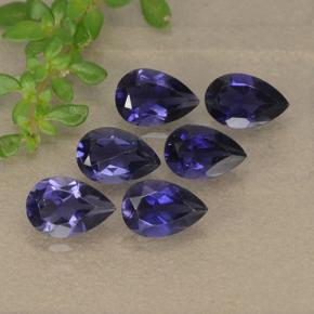 Violet Blue Iolite Gem - 0.4ct Pear Facet (ID: 493203)
