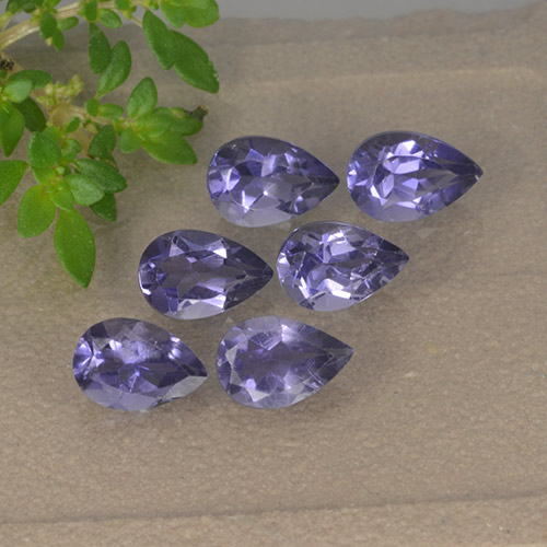 Purple Iolite Gem - 0.4ct Pear Facet (ID: 493407)