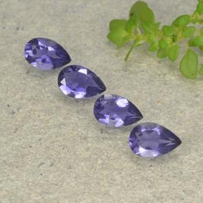 Violet Blue Iolite Gem - 0.3ct Pear Facet (ID: 498013)