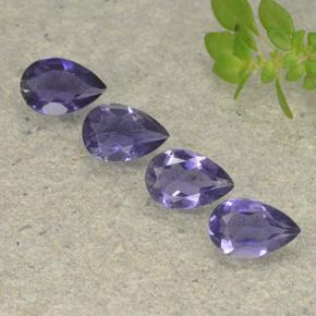 Violet Blue Iolite Gem - 0.3ct Pear Facet (ID: 498030)