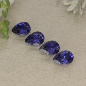 Violet Blue Iolite Gem - 0.4ct Pear Facet (ID: 498083)