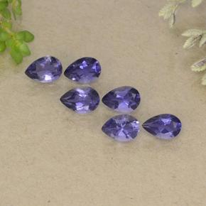 Violet Blue Iolite Gem - 0.3ct Pear Facet (ID: 498173)