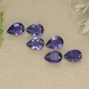 Purple Iolite Gem - 0.3ct Pear Facet (ID: 498174)