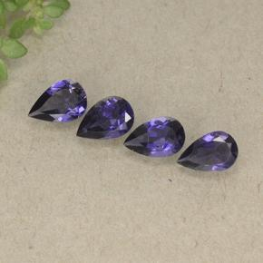 Violet Blue Iolite Gem - 0.3ct Pear Facet (ID: 498179)