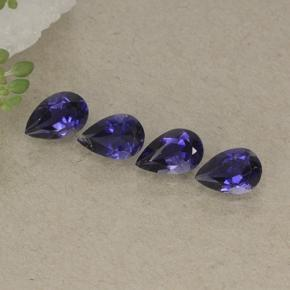 Dark Violet Iolite Gem - 0.4ct Pear Facet (ID: 498187)