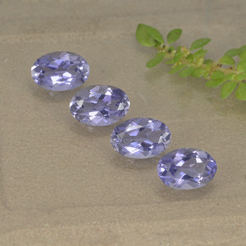 Violet Blue Iolite Gem - 0.4ct Oval Facet (ID: 499111)