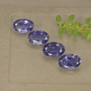 Violet Blue Iolite Gem - 0.4ct Oval Facet (ID: 499113)