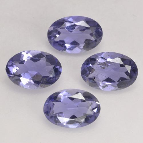 Violet Blue Iolite Gem - 0.4ct Oval Facet (ID: 499114)