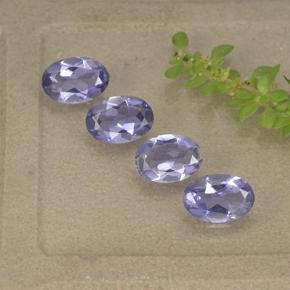 Violet Blue Iolite Gem - 0.3ct Oval Facet (ID: 499116)