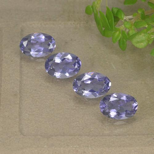 Violet Blue Iolite Gem - 0.4ct Oval Facet (ID: 499120)