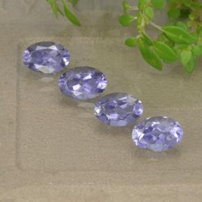 Medium-Light Violet Iolita Gema - 0.4ct Forma ovalada (ID: 499121)