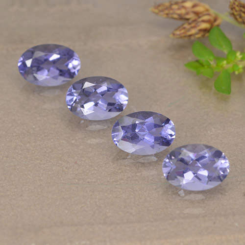Violet Blue Iolite Gem - 0.4ct Oval Facet (ID: 499122)