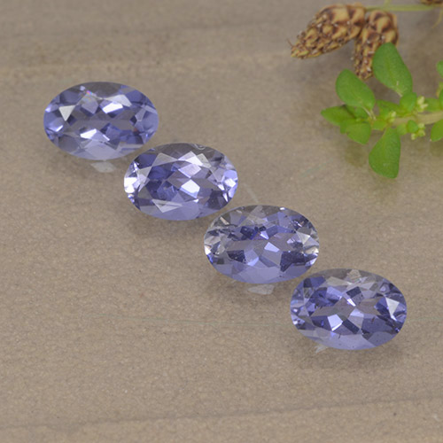 Violet Blue Iolite Gem - 0.4ct Oval Facet (ID: 499123)