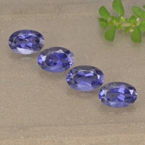 Violet Blue Iolite Gem - 0.4ct Oval Facet (ID: 499126)