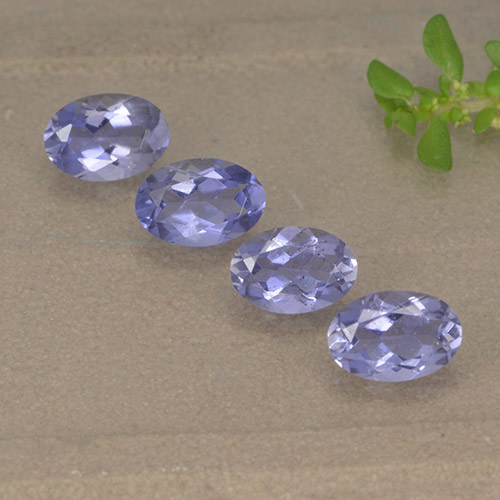 Violet Blue Iolite Gem - 0.4ct Oval Facet (ID: 499128)