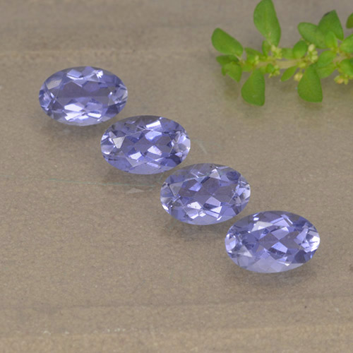 Violet Blue Iolite Gem - 0.4ct Oval Facet (ID: 499129)