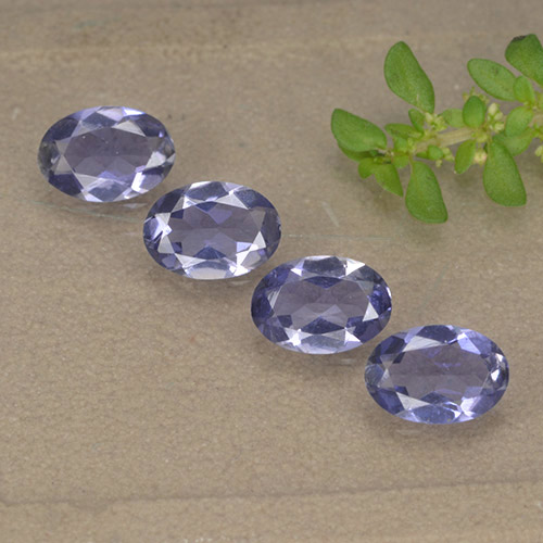 Violet Blue Iolite Gem - 0.3ct Oval Facet (ID: 499132)