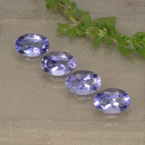 Violet Blue Iolite Gem - 0.4ct Oval Facet (ID: 499139)