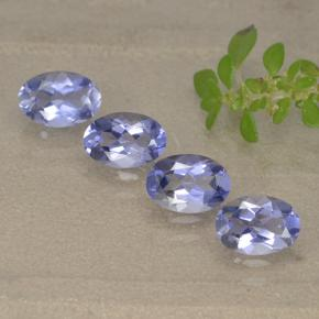 Violet Blue Iolite Gem - 0.4ct Oval Facet (ID: 499140)