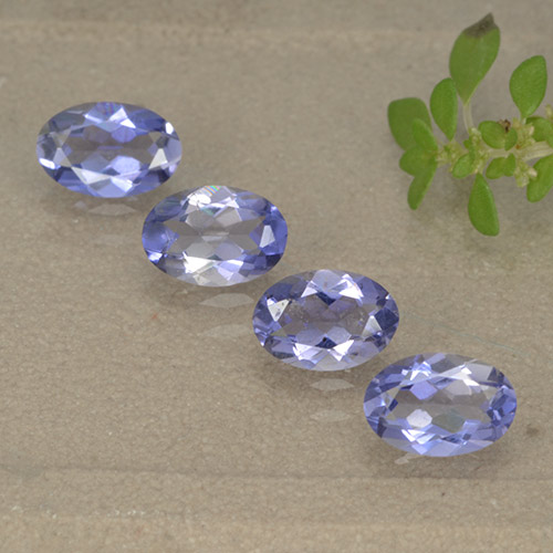 Violet Blue Iolite Gem - 0.4ct Oval Facet (ID: 499142)