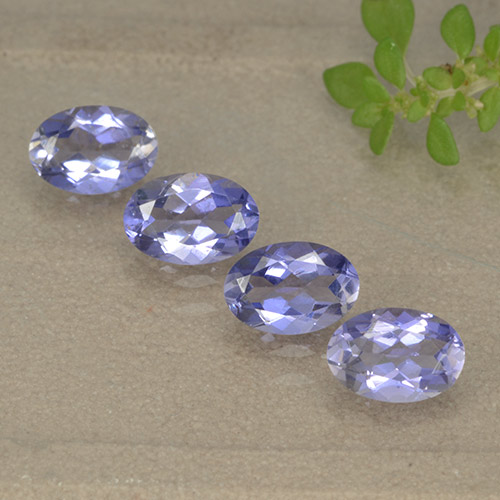 Violet Blue Iolite Gem - 0.4ct Oval Facet (ID: 499144)