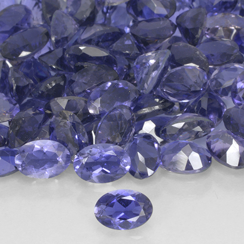 Violet Iolite Gem - 0.4ct Oval Facet (ID: 503688)