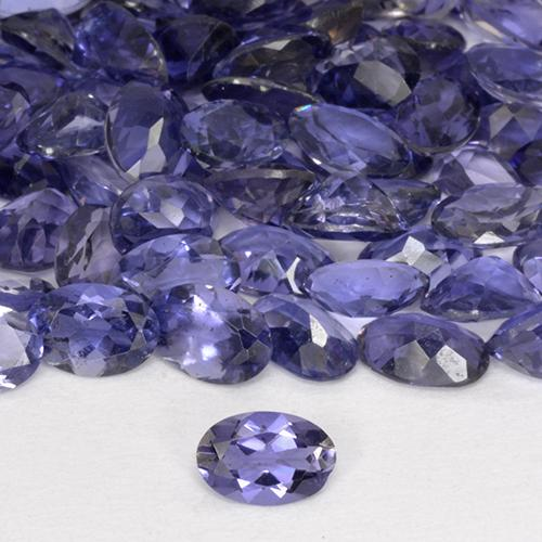 Violet Blue Iolite Gem - 0.4ct Oval Facet (ID: 514071)