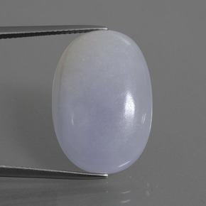 Light Violet Jadeite Gem - 22.2ct Oval Cabochon (ID: 413402)