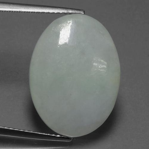 Green Jadeite Gem - 13.8ct Oval Cabochon (ID: 419910)