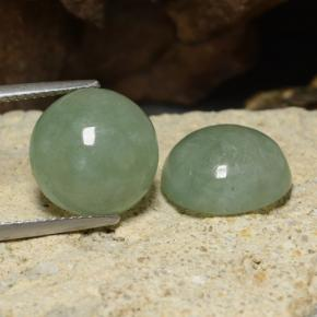 thumb image of 16.1ct Round Cabochon Green Jadeite (ID: 470598)