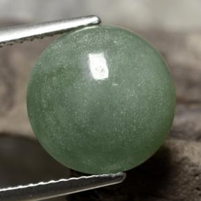 thumb image of 7.4ct Round Cabochon Green Jadeite (ID: 471147)