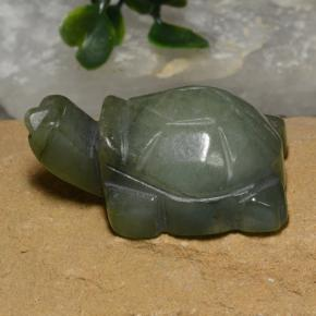Green Jadeite Gem - 116.5ct Carved Turtle (ID: 474434)