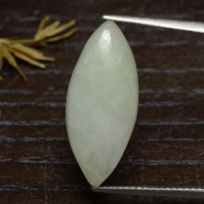 Greenish Gray Jadeite Gem - 7.5ct Marquise Cabochon (ID: 475256)