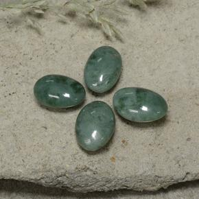 thumb image of 12ct Oval Cabochon Green Jadeite (ID: 496136)