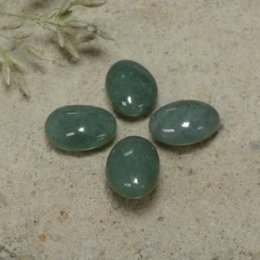 thumb image of 9.1ct Oval Cabochon Green Jadeite (ID: 496138)